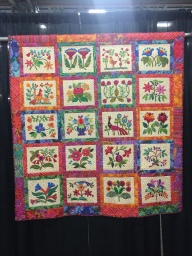 """Paradise Found"" by Ann Kennedy from Wyomissing, PA. Hand appliqued, machine pieced, hand quilted by Windy Witters."