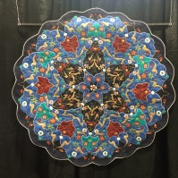 """My Turkish Plate"" by Valda Sutton from New Zealand. Machine appliqued, machine pieced, machine quilted, original design."