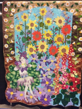 "Best of Hand Workmanship: ""Summer Fairy by Kazue Tsukayama from Japan. Hand appliqued, machine pieced, hand quilted, original design."