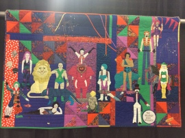 "Best Hand Workmanship: ""Circus"" by Liz Piatt from Orinda, CA. Hand appliqued, hand pieced, hand quilted."